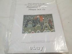 Haunted House-kelly Clark-handpainted Needlepoint Canvas-stitch Guide-threads