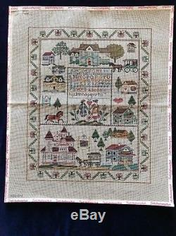 Holly Hill Designs Sampler Hand painted Needlepoint