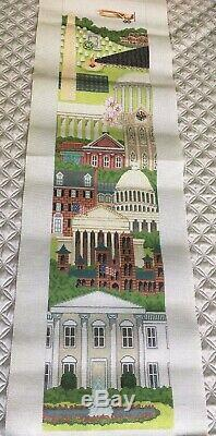 Huge Washington DC Needlepoint Bell Pull Handpainted Trubey Designs BP004 39x8.5