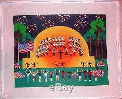 JG Patriotic Outdoor Musical Orchestra HP Handpainted Needlepoint Canvas