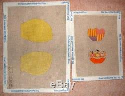 JJG Chickadee Chick 3D Doll HP Handpainted Needlepoint Canvases & Stitch Guide