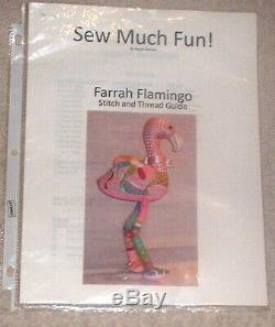 JJG Farrah Flamingo 3D Doll HP Handpainted Needlepoint Canvases & Stitch Guide