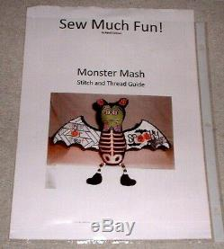 JJG Monster Mash Doll Halloween HP Handpainted Needlepoint Canvas & Stitch Guide