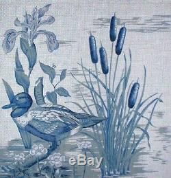 KW 309 Duck in Marsh Cattails & Iris HP Hand Painted Needlepoint Canvas