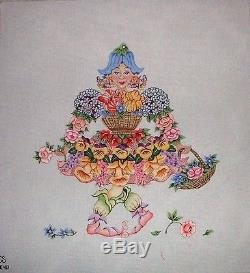 KW 6040 Flower Lady by TS Designs HP Hand Painted Needlepoint Canvas