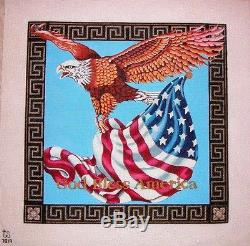 KW 7019 God Bless America Eagle by TS Designs Hand Painted Needlepoint Canvas