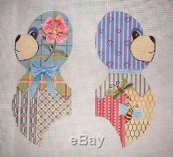 KWC 6078 Large Teddy Bear 3D Doll HP Handpainted Needlepoint Canvas