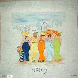 KWC Girlfriend Party at the Beach HP Hand Painted Needlepoint Canvas
