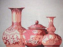 KWC SB935 Chinese Trio of Vases 20x14 HP Hand Painted Needlepoint Canvas