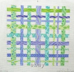 Kate Dickerson Colorful Ribbons 404 Handpainted Needlepoint Canvas