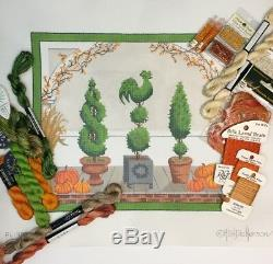 Kate Dickerson Hand painted Needlepoint Canvas KIT American Front Porch Autumn