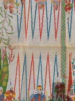 King & Queen People-Hand Painted Needlepoint Canvas 32 x 32