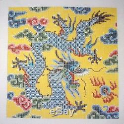 LEE Oriental Imperial Dragon handpainted Large 16x16 Needlepoint Canvas 12mesh