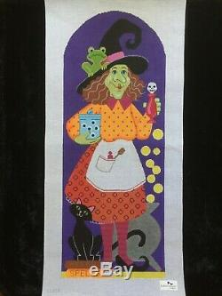 Labors of Love Hand-painted Needlepoint Canvas Bright & Colorful Bea Witch