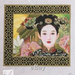 Lani Hand painted Needlepoint Canvas Lina young woman girl portrait Asian