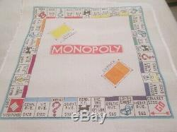 Large Monopoly Board-handpainted Needlepoint Canvas
