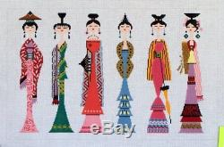 Lee Oriental Woman II Hand Painted Needlepoint Canvas 18 ct