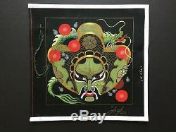 Leigh Designs Hand-painted Needlepoint Canvas Heaven's Guardian Dragon Mask/SG+