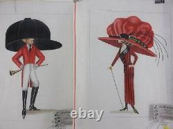 Leigh FOXY FREDDIE + RUBY & WALKING STICK Hand-Painted Needlepoint Canvases+ NEW