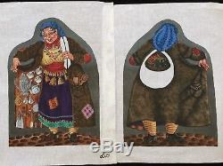 Liz for Tapestry Tent Designs Hand-painted Needlepoint Canvas 2-Sided Gypsy