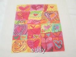 Love Love Love-birds Of A Feather-handpainted Needlepoint Canvas