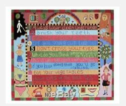 MOM KNOWS BEST HANDPAINTED NEEDLEPOINT CANVAS by Maggie