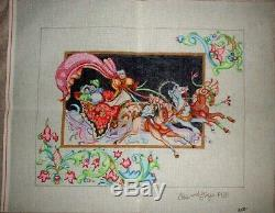 MZC 18ct Medival Chariot by Edie & Ginger P160 Hand Painted Needlepoint Canvas