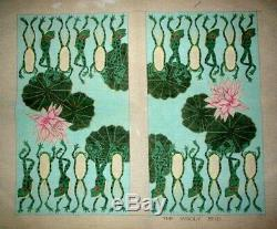 MZC Frogs and Lily Pads Backgammon Board HP Hand Painted Needlepoint Canvas