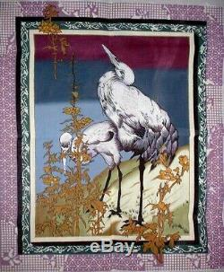 MZC Oriental Cranes by Lani HUGE 26x31 HP Hand Painted Needlepoint Canvas