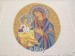 Madonna Icon-peter Ashe-handpainted Needlepoint Canvas