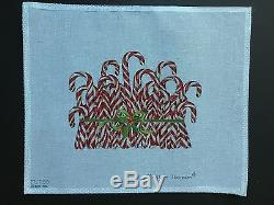 Mary Lake Thompson Hand-painted Needlepoint Canvas Candy Canes
