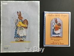 Mary Lake Thompson Hand-painted Needlepoint Canvas Mrs. Rabbit With Bees/SG