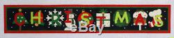 Melissa Shirley Christmas Banner Hand Painted Needlepoint Canvas 14 ct