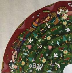 Melissa Shirley Designs 4 Hand-painted Needlepoint Canvases Christmas Tree Skirt