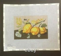 Melissa Shirley Designs Hand-painted Needlepoint Canvas Colorful Small Lemons