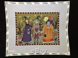 Melissa Shirley Designs Hand-painted Needlepoint Canvas Halloween 3 Witches