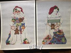 Melissa Shirley Designs Hand-painted Needlepoint Canvases 2-Sided Santa & Toys