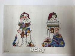 Melissa Shirley Gingerbread Santa Hand-painted Needlepoint Canvas NewithVintage