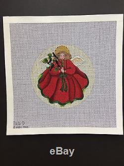 Melissa Shirley Hand-painted Needlepoint Canvas Set 12 Days of Christmas Angels
