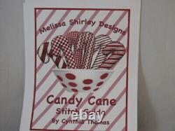 Melissa Shirley Handpainted Needlepoint Canvas & Stitch Guide-6 Candy Cane 18 Ct