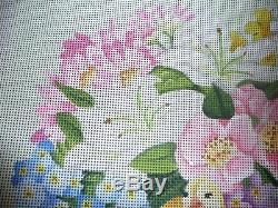 Melissa Shirley hand painted needlepoint canvas -Easter Basket