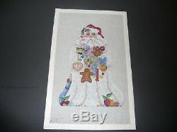 Melissa Shirley handpainted needlepoint canvas Candy Santa