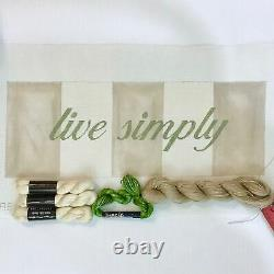 & More Julia Snyder handpainted needlepoint canvas KIT Live Simply Gandi quote