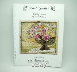 NEEDLEPOINT HANDPAINTED Canvas Sandra Gilmore Flowers PRETTY with STITCH GUIDE