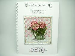 NEEDLEPOINT HANDPAINTED Canvas Sandra Gilmore HYDRANGEA Flowers with STITCH GUIDE