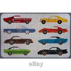 NEEDLEPOINT HandPainted JP Needlepoint CARS from the 1970s 10x15