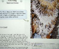 NEEDLEPOINT Handpainted Canvas SANDRA Gilmore WOLF The SENTINEL with Stitch Guide