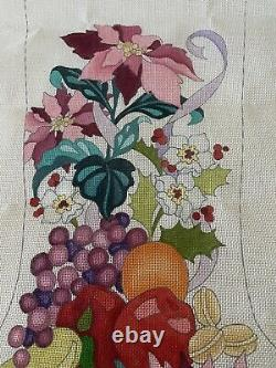 Needlepoint 23 Hand painted Strictly Christmas Stocking Canvas, 13 Pt