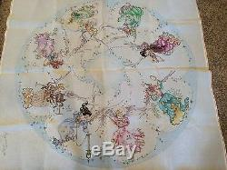 Needlepoint Canvas -Edie & Ginger Hand Painted Christmas Tree Skirt