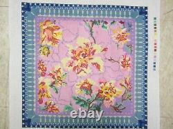 Needlepoint Canvas Linen Chintz Hand Painted Floral by Peas of Mind